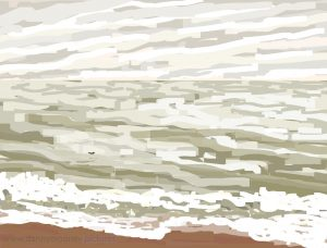 Danny Mooney 'Rough sea, 18/3/17' iPad painting #APAD