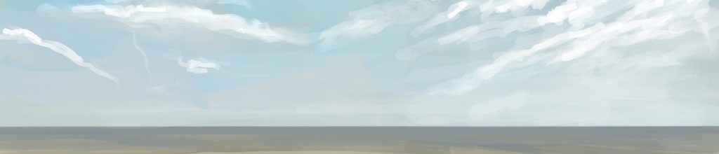 Danny Mooney 'Seascape, 1/4/17' iPad painting #APAD