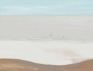 Danny Mooney 'Paddle boarders, 2/5/17' iPad painting #APAD