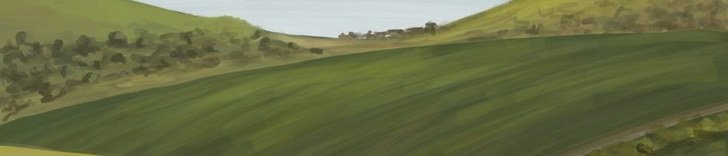 Danny Mooney 'View from Nuffield Priory, Brighton, 3/5/17' iPad painting #APAD