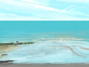 Danny Mooney 'Low tide, 15/6/17' iPad painting #APAD
