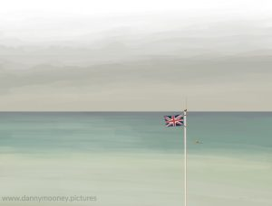 Danny Mooney 'Very windy in Bexhill, 22/6/17' iPad painting #APAD