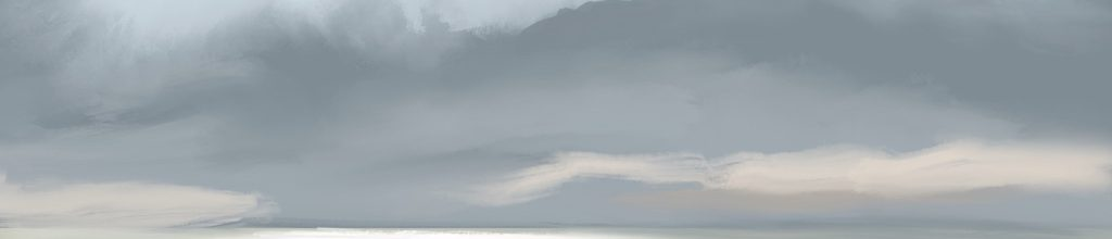 Danny Mooney 'Cloud, 1:2:19', iPad painting #APAD