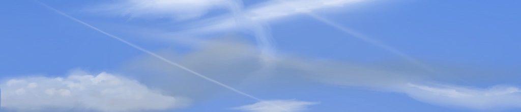 Danny Mooney 'Clouds, 26:3:19', iPad painting #APAD