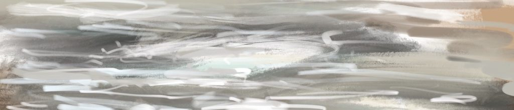 Danny Mooney 'Storm, 4:4:19', iPad painting #APAD
