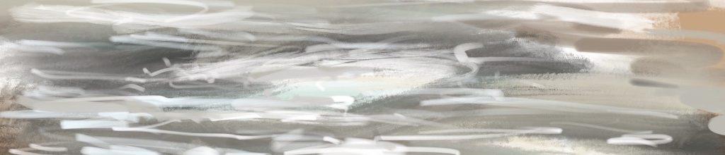 Danny Mooney 'Storm, 4:4:19', iPad painting #APAD