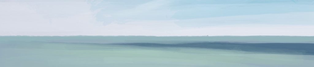 Danny Mooney 'Blue shaddow, 6:5:19', iPad painting #APAD