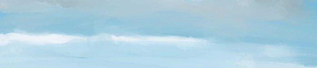 Danny Mooney 'On the beach, 2:8:19', iPad painting #APAD