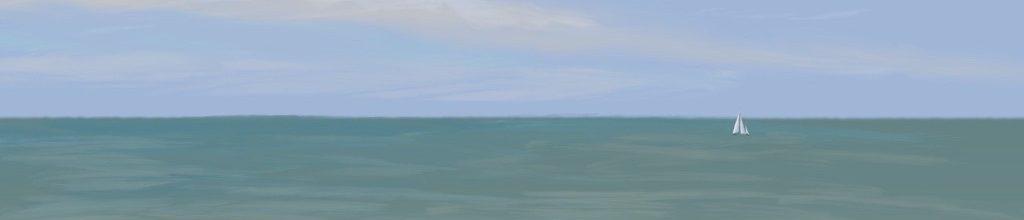 Danny Mooney 'Yacht?' 19:8:2020', iPad painting #APAD