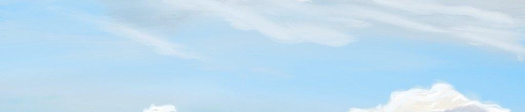 Danny Mooney 'Purple cloud bank 7:9:2020', iPad painting #APAD
