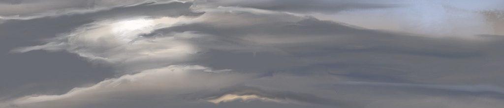 Danny Mooney 'Dog walk, 9:10:2020', iPad painting #APAD