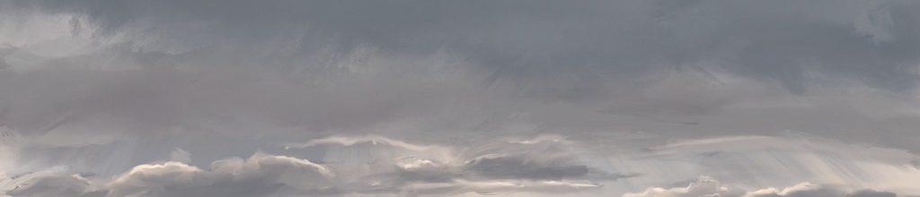 Danny Mooney 'Rough sea, sun rays, 9:2:2021', iPad painting #APAD