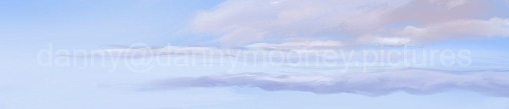 Danny Mooney 'Green sea, 7:4:2021', iPad painting #APAD