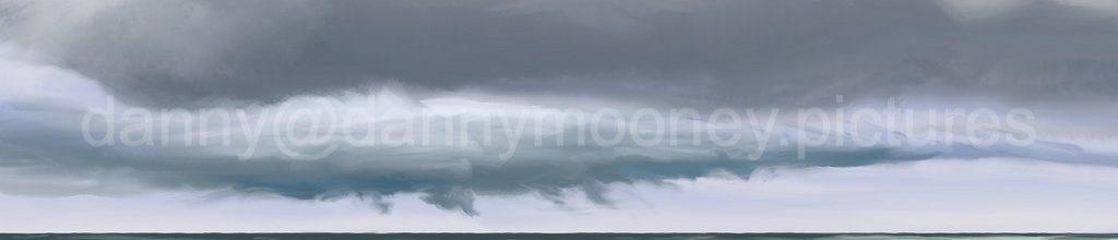 Danny Mooney 'Clouds, 22:5:2021', iPad painting #APAD