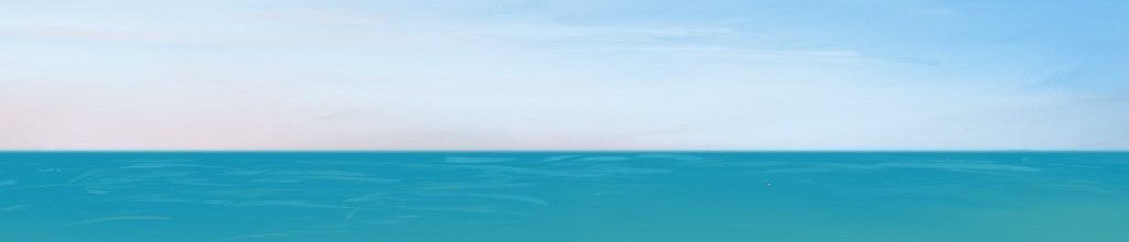 Danny Mooney 'Turquoise, 9:6:2021', iPad painting #APAD