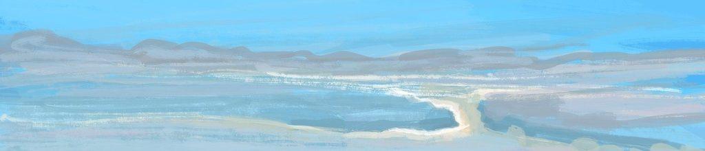 Danny Mooney 'Clouds, 3:8:2021', iPad painting #APAD